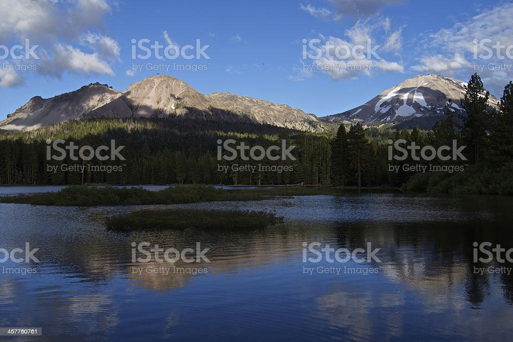 Manzanita Lake Mirror stock photo