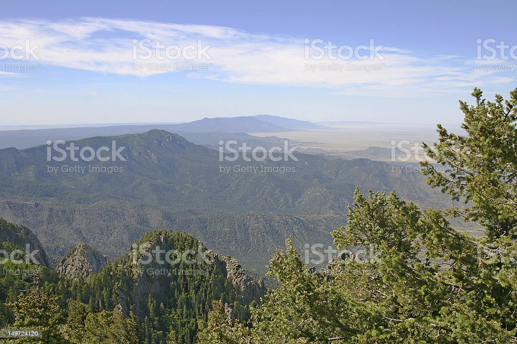 Manzano Mountains stock photo