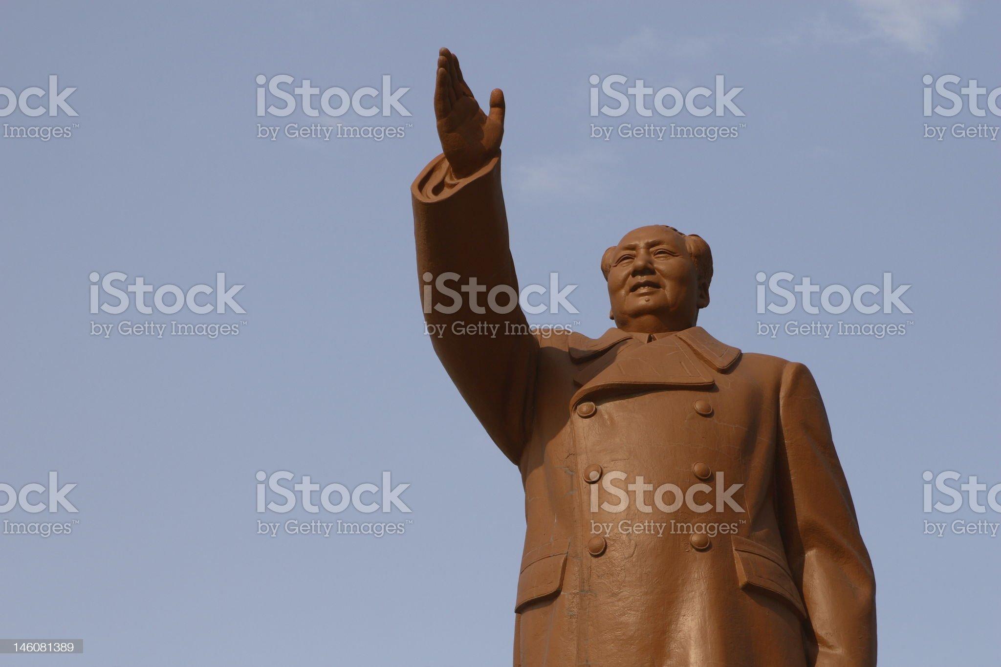 Mao Tse-dung statue royalty-free stock photo