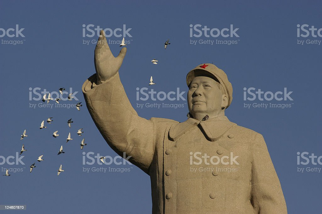 Mao Zedong Statue stock photo