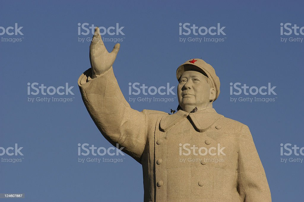 Mao Zedong Statue royalty-free stock photo