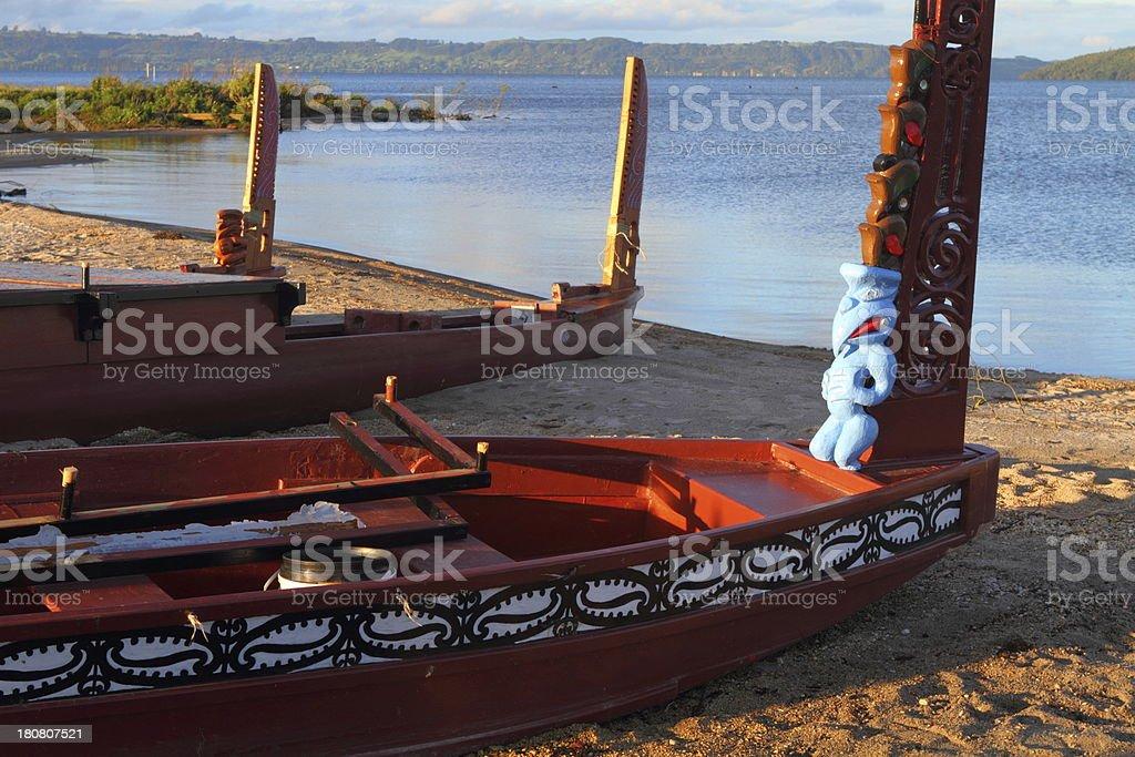 Maori boats royalty-free stock photo