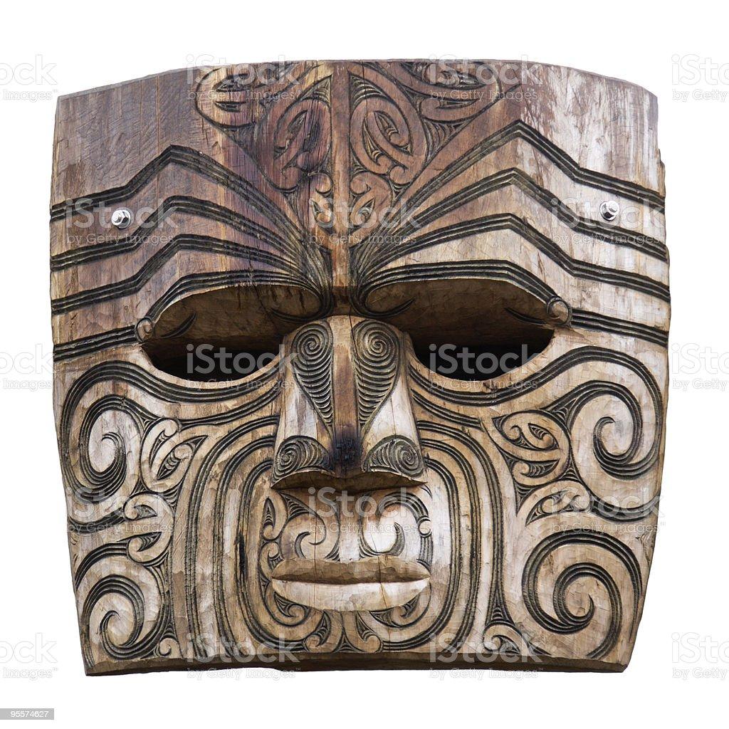 Maori carving royalty-free stock photo