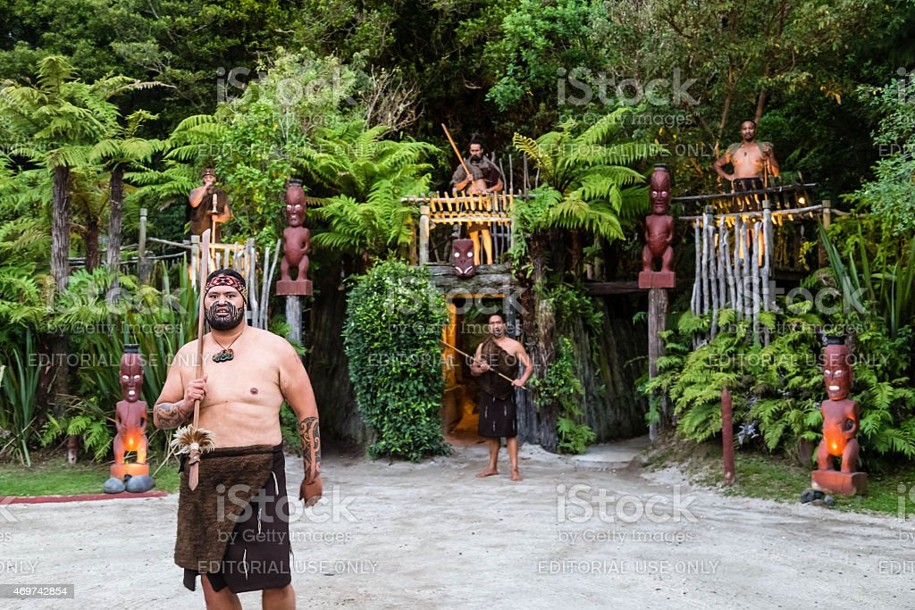 Maori culture stock photo