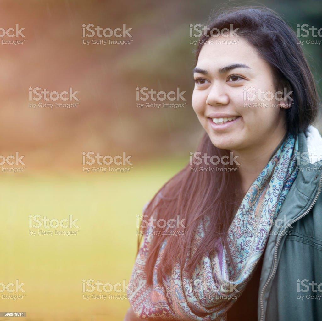 Maori Girl. stock photo