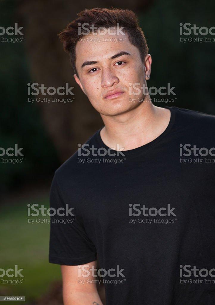 Maori Man stock photo