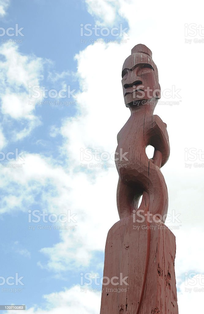 Maori Statue stock photo