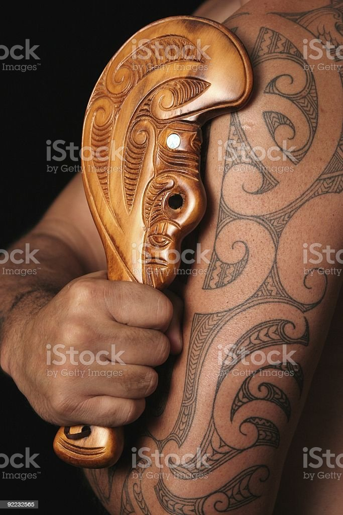 Maori Tribal Patterns stock photo