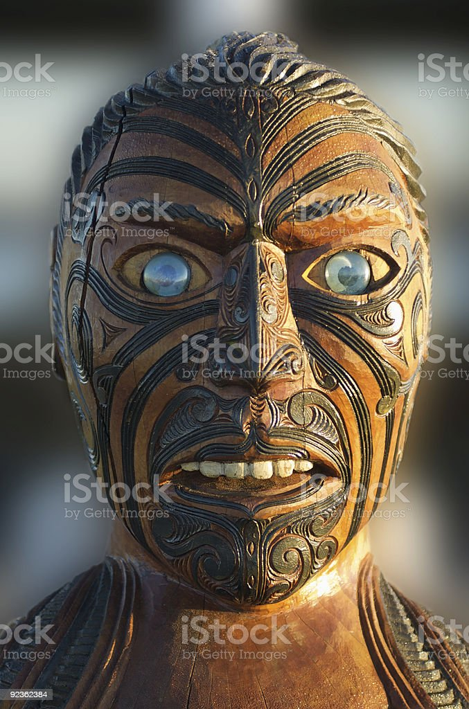 Maori Warrior royalty-free stock photo