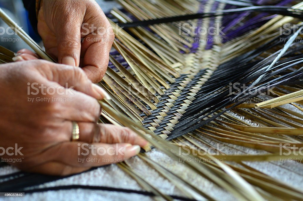 Maori woven artwork stock photo