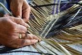 Maori woven artwork