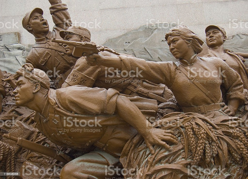 Mao's Peasant Warriors stock photo