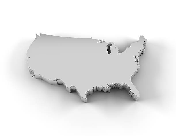 Us Map Outline Pictures Images And Stock Photos IStock - 3d us map