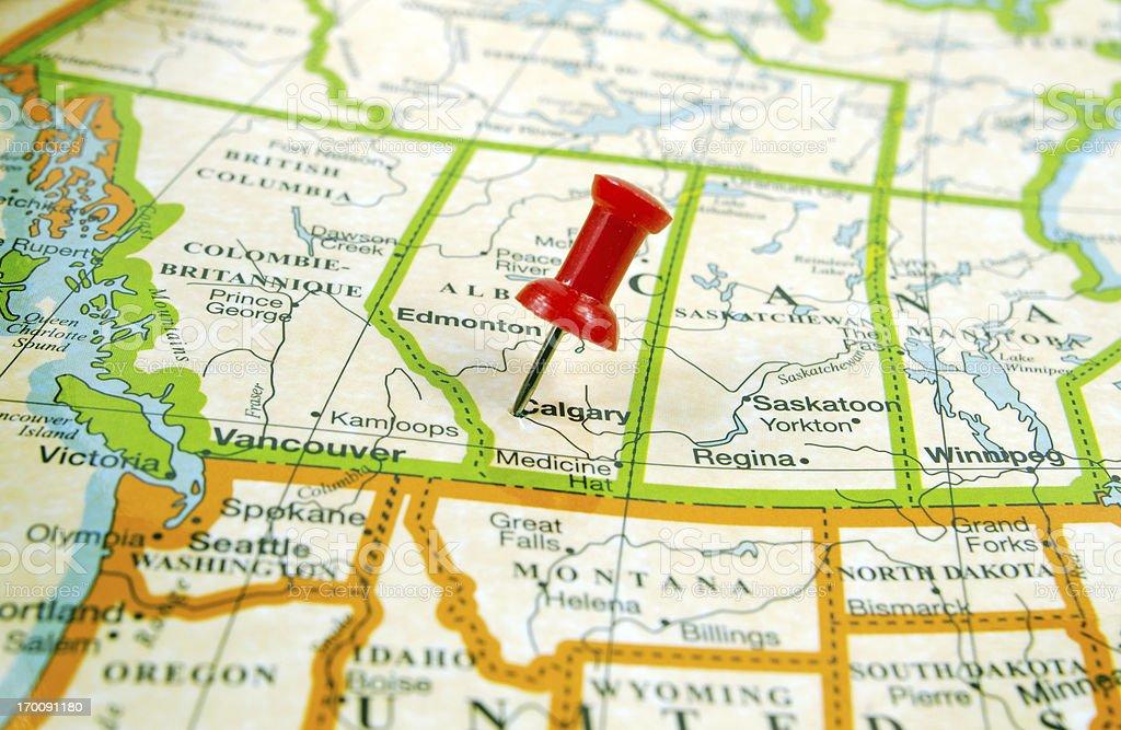 Map ... Calgary stock photo