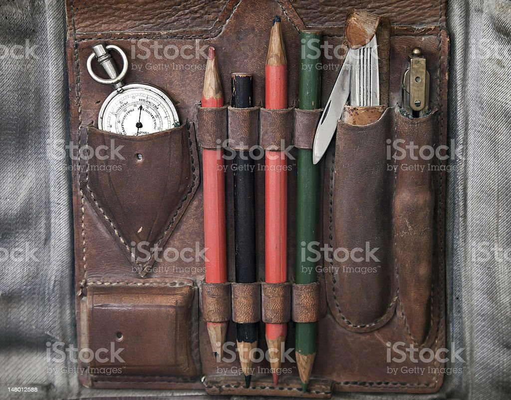 Map case from WWII period royalty-free stock photo