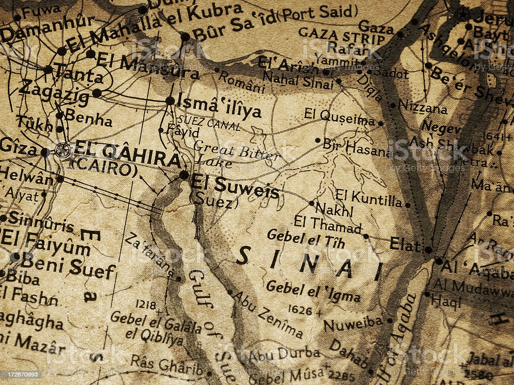 Map - Egypt royalty-free stock photo
