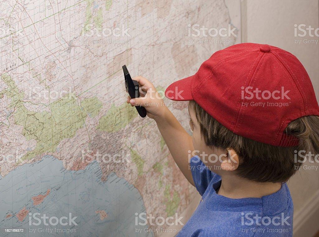 Map Explorer stock photo