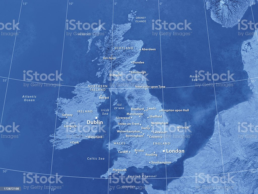 Map Great Britain royalty-free stock photo