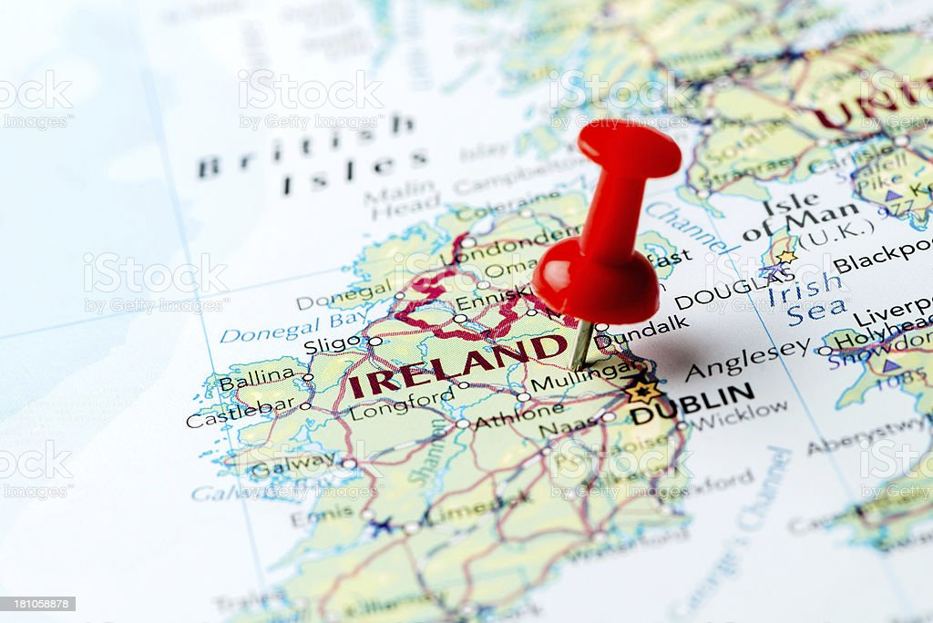 Map Ireland stock photo