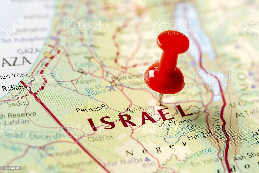 Map Israel royalty-free stock photo