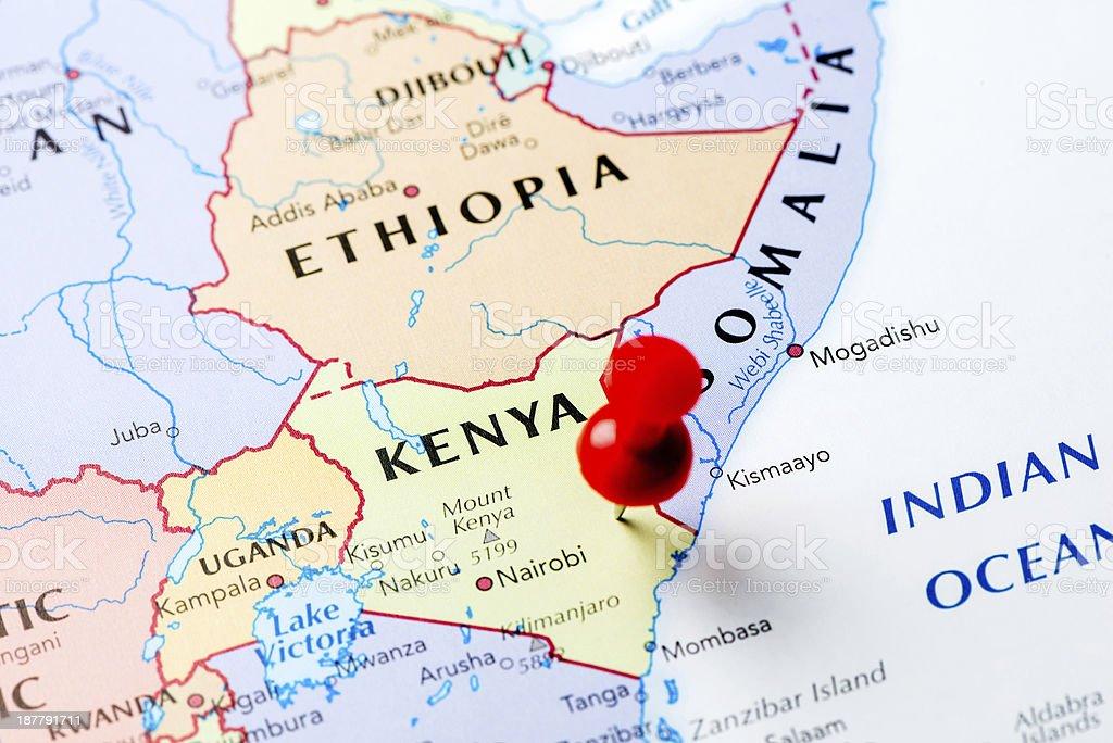 Map Kenya stock photo 187791711 iStock