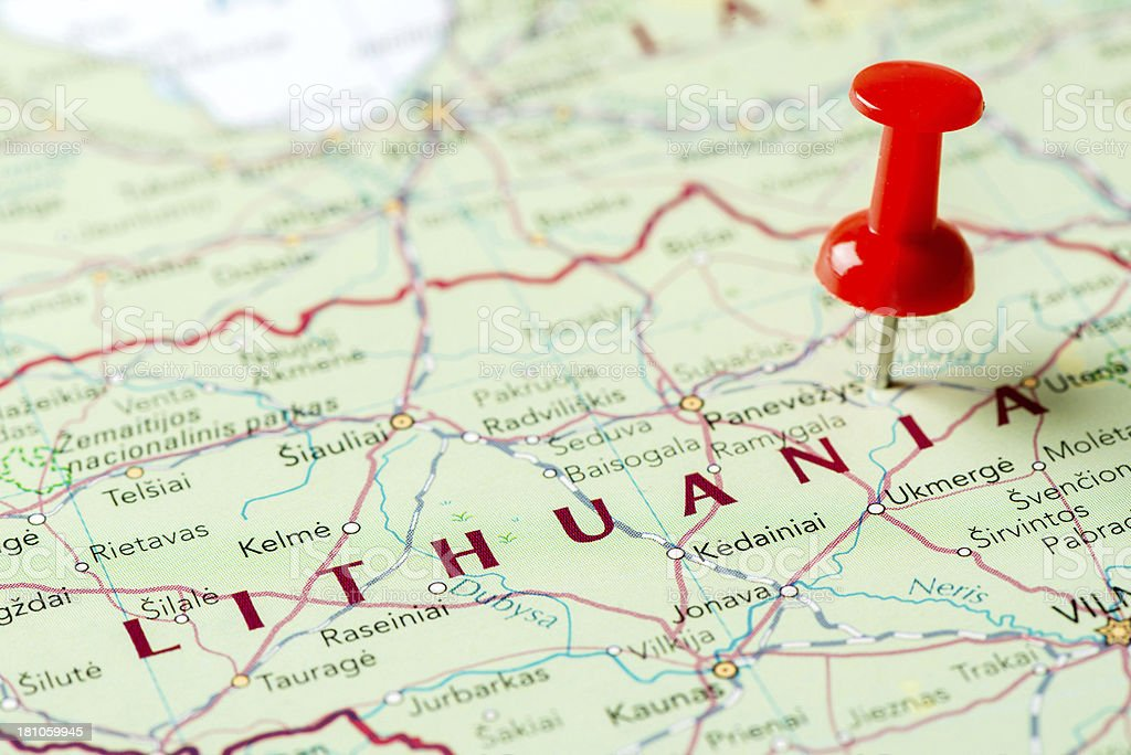 Map Lithuania royalty-free stock photo