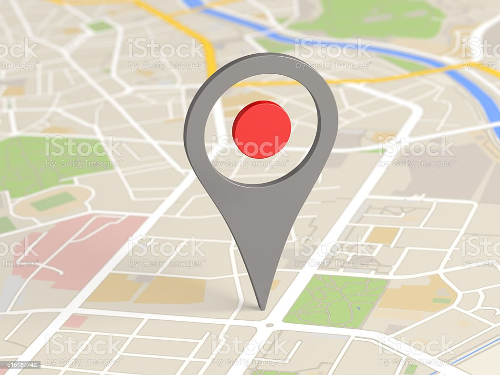 map locator icon stock photo