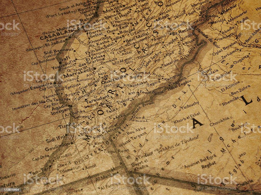 Map - Morocco stock photo
