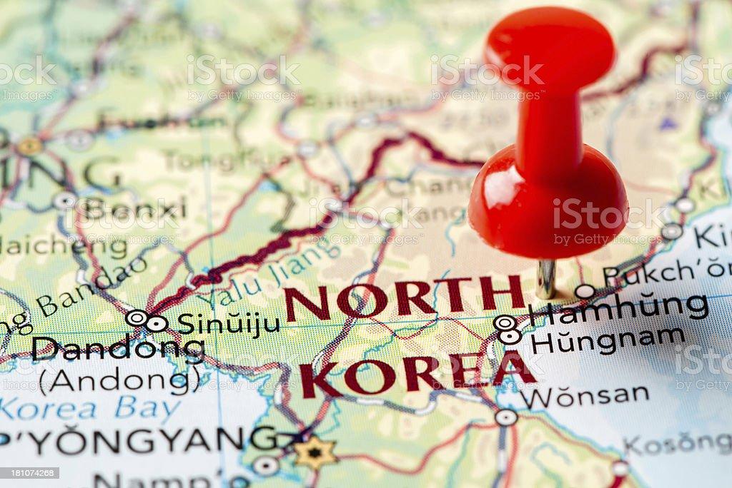 Map North Korea royalty-free stock photo