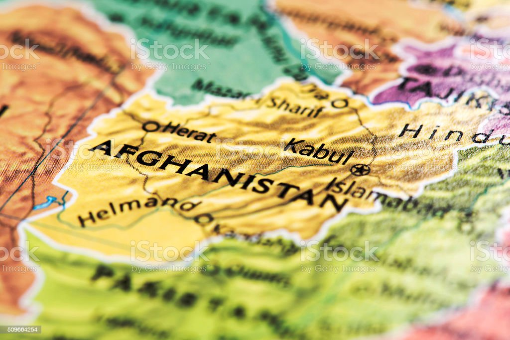 Map of Afghanistan stock photo