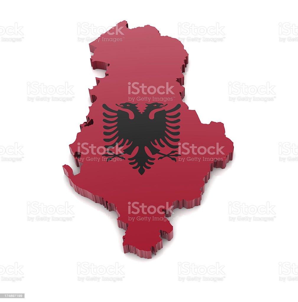 Map of Albania royalty-free stock photo