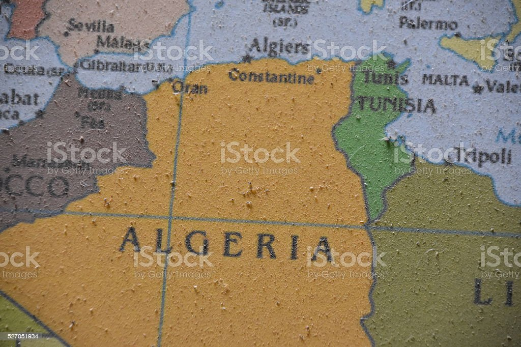 Map of Algiers stock photo
