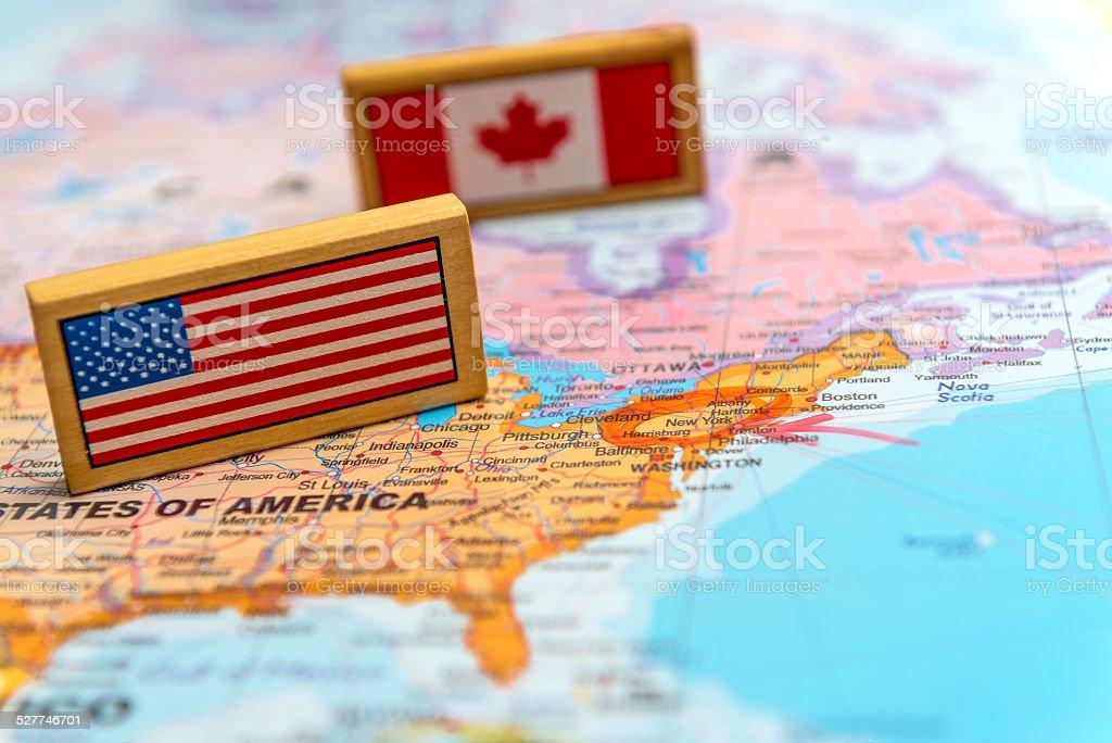 map of America stock photo