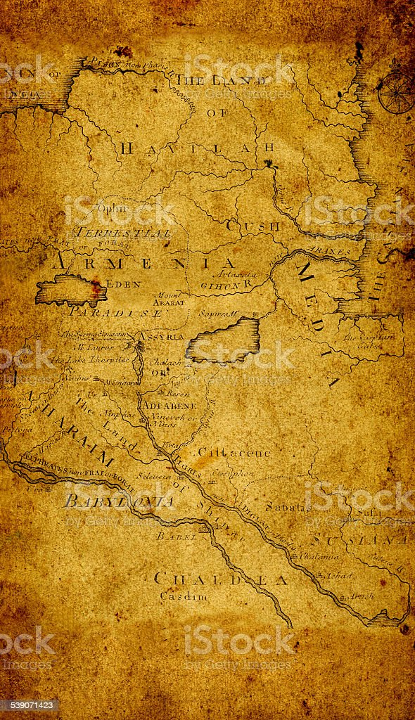 Map of ancient Armenia stock photo