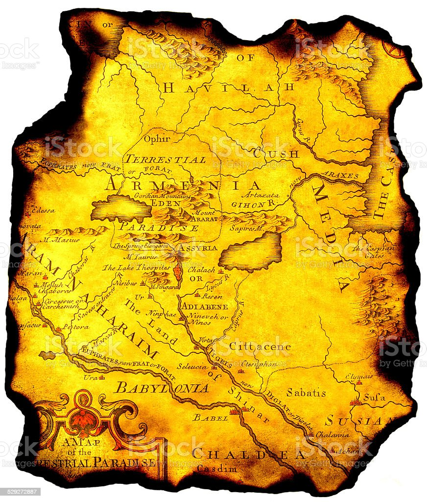 Map of ancient state. stock photo
