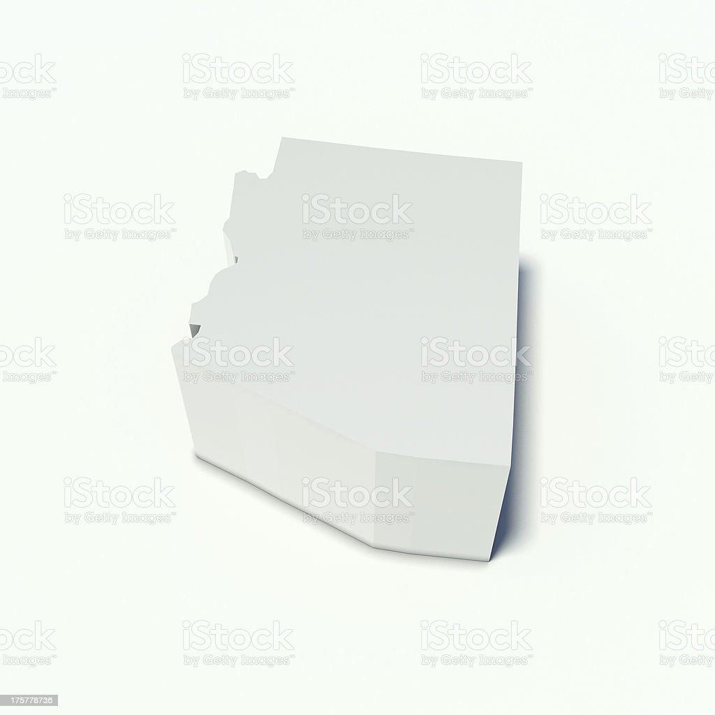 map of arizona royalty-free stock photo