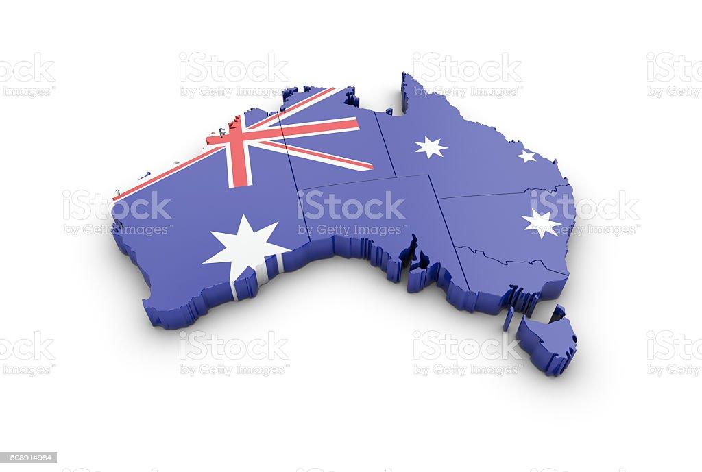 Map of Australia on a white background. royalty-free stock photo