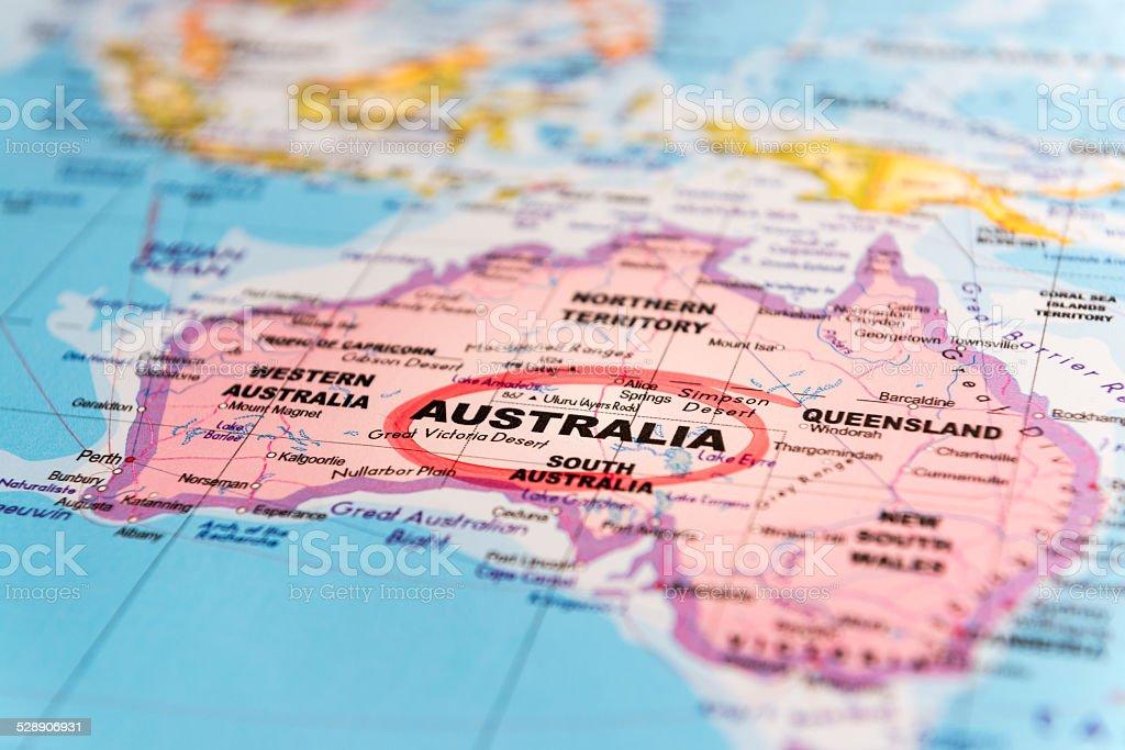 Mapa Australii#2 zbiór zdjęć royalty-free