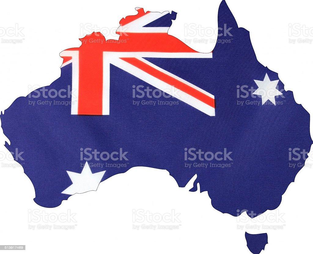 Map of Australia with Australian map. stock photo