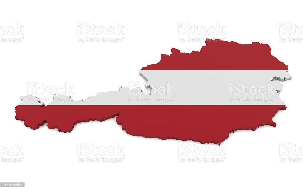 Map of Austria royalty-free stock photo