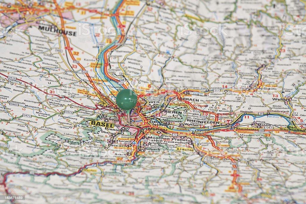 Map of Basel, Swisse stock photo