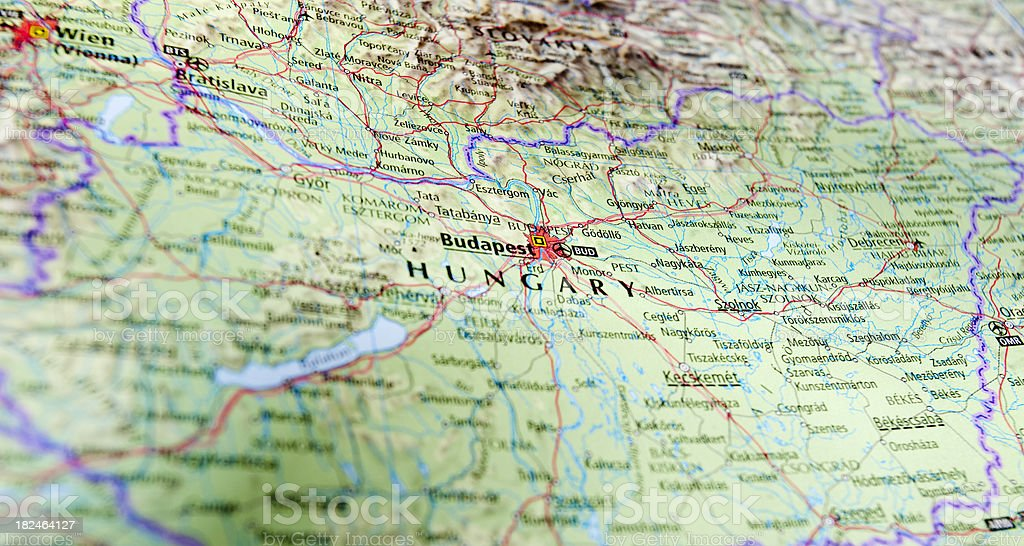 map of budapest area royalty-free stock photo