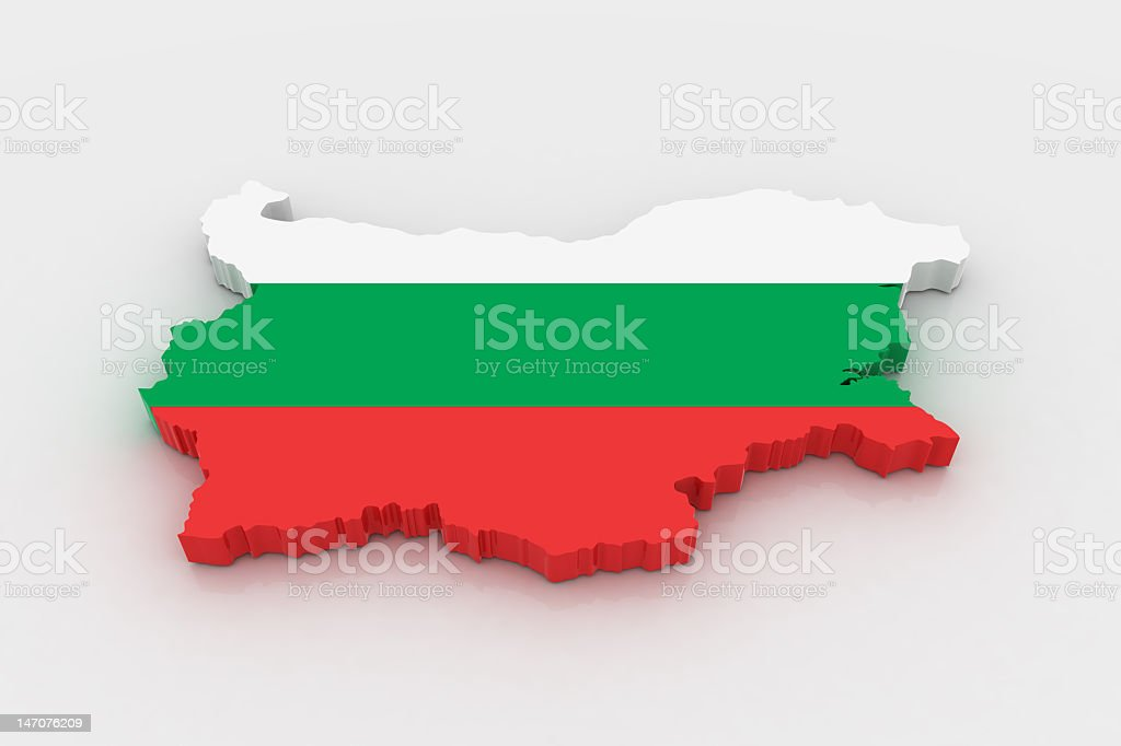 A map of Bulgaria made of solid blocks stock photo