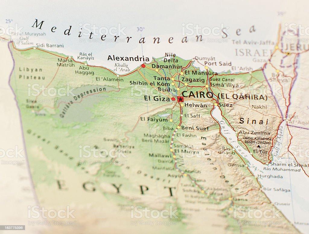 map of cairo stock photo