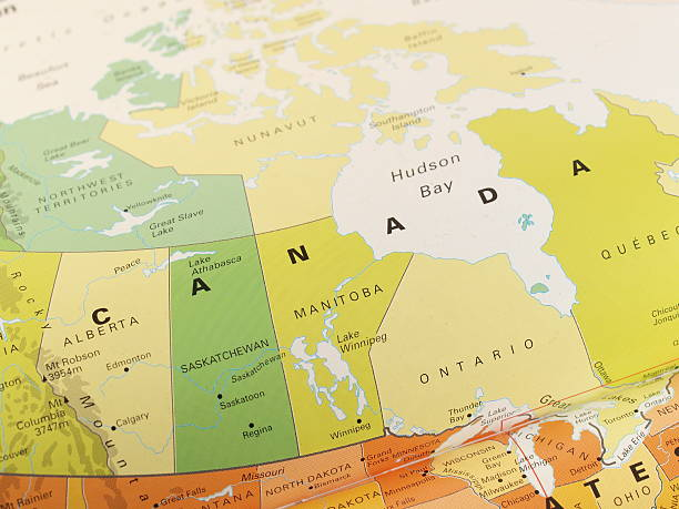 Canada Map Pictures Images And Stock Photos IStock - Map of canada and northern us
