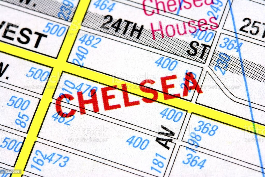 Map of Chelsea royalty-free stock photo