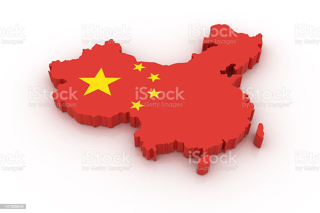 Map of China royalty-free stock photo