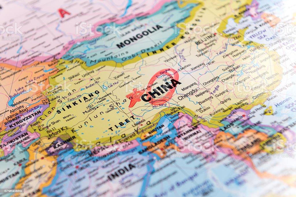 Mapa Chin zbiór zdjęć royalty-free