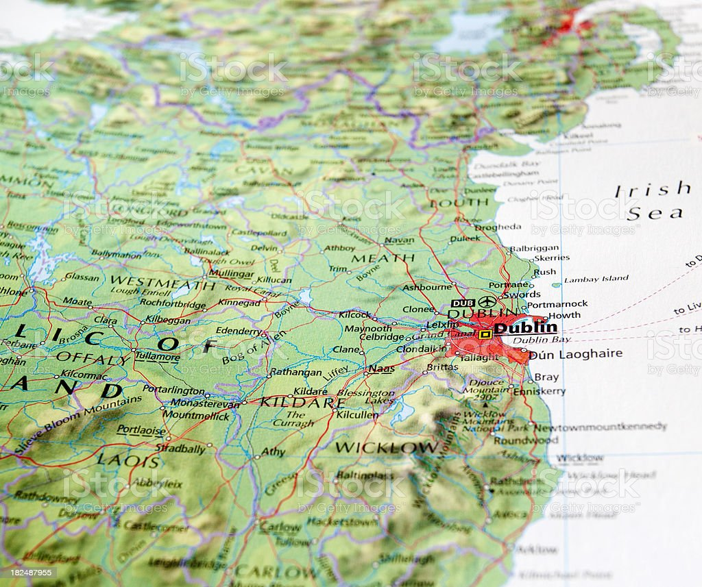 map of dublin royalty-free stock photo