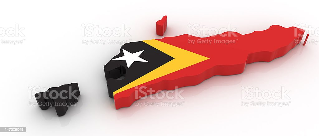Map of Eastern Timor stock photo